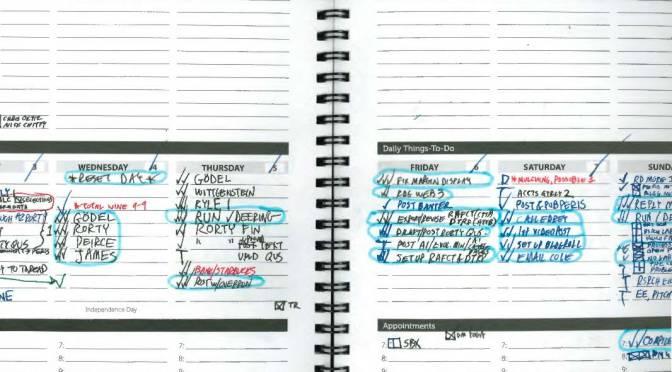 Practical Tuesdays (1), the Inaugural: Paper Agendas & Blue Stripes
