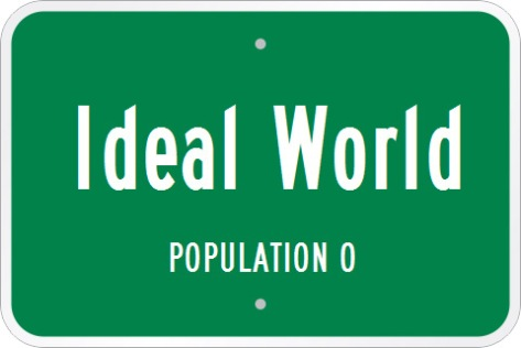 Ideal World Road Sign